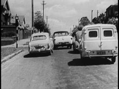 Driving, View From Drivers Seat, Old Cars / (Archive Footage) Australia Stock Footage