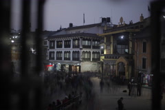 Night Time Lapse in Kathmandu Stock Footage