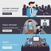 Public Speaking Banner Stock Illustration