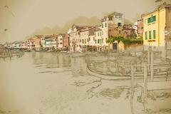View in Venice Piirros