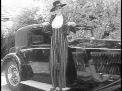 1960's Fashion Model & Car (Archive Footage) Stock Footage