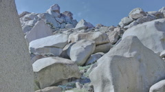Granite Boulder Rock Mountain Capo Testa Sardinia Italy - 25FPS PAL Stock Footage