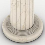 Greek column marble in white background Stock Illustration