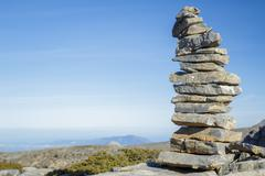 Pile of stone at the mountain - stock photo