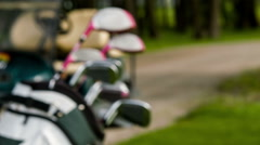 Fade in of golf equipment Stock Footage