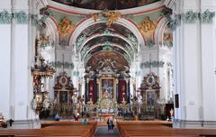 St. Gallen cathedral interior. Swiss landmark, listed on Unesco World Heritag - stock photo