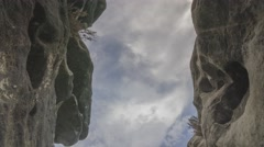 Rotating And Moving Through A Crevice Saxon Switzerland Timelapse - stock footage