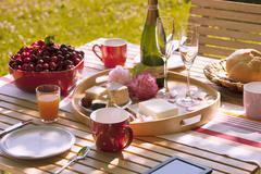 Romance table Stock Photos