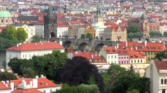 4K footage of Prague, Czech Republic, as seen from the Prague Castle Stock Footage