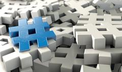 Hashtag Concept - stock illustration