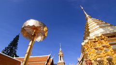 Wat Doi Suthep, Buddhist temple in Chiang Mai Thailand, Stock Footage
