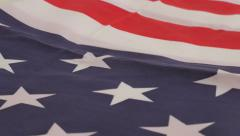 Stars and stripes of USA national flag fabric  slow tilt 4K 2160p UltraHD foo Stock Footage