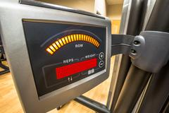 Display gym machine - stock photo