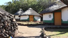 Traditional Xhosa huts Stock Footage