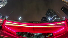 Timelapse of Brazil's largest city , a metropolis that never sleeps , São Paulo. Stock Footage