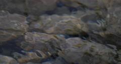 4K, flowing and splashing water closeup Stock Footage