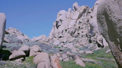 Granite Rock Mountain Landscape Capo Testa Sardinia Italy - 25FPS PAL Stock Footage
