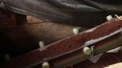 Stock Video Footage of Industrial conveyer belt
