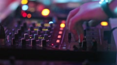 Close-up video of Dj mixing at the night club Stock Footage
