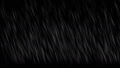 4k Falling rain at night background,rainy storm heavy rain weather,water drop. Stock Footage