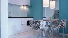 Modern small kitchen interior, HD vdo. Stock Footage