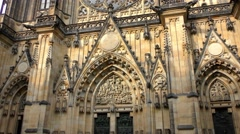 4k footage of the Saint Vitus Cathedral in the Prague Castle Stock Footage