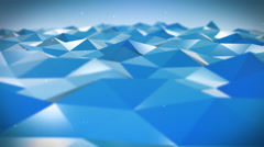 Live Pulsing Low Poly Environment Blue 4K Stock Footage