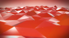 Live Pulsing Low Poly Environment Red 4K Stock Footage