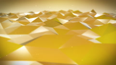 Live Pulsing Low Poly Environment Yellow 4K Stock Footage
