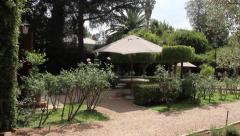 Garden with a veranda Stock Footage