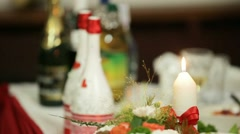 Festive Table - stock footage