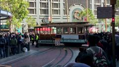 San Francisco Cable Car Rotation Stock Footage