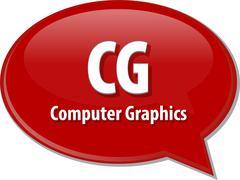 CG acronym definition speech bubble illustration Stock Illustration