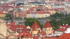 4K footage of Prague, Czech Republic, as seen from the Prague Castle Stock Footage