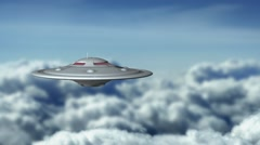 Flying saucer in the sky Stock Footage