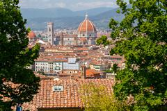 View of Florence from Fort Belvedere - stock photo