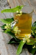 Tea of Linden-Tree Flowers - stock photo