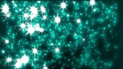 Looped light green animated background with particles and flashes Stock Footage
