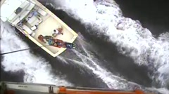 Coast Guard Medevacs Man 46 Miles Off Ocean City Stock Footage
