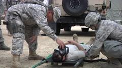 Chemical Decontamination Training Exercise Stock Footage