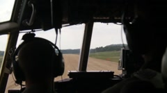 Airmen from the Aerial Medical Evacuation Squadron, train on a C-130 Hercules Stock Footage