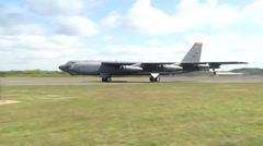 B-52 Stratofortress Takes off for BALTOPS 15 Stock Footage