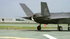 Inaugural F-35B Ski Jump Launch Makes History Stock Footage