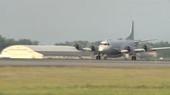 P-3 Orion aircraft taking off for Northern Edge 2015 - stock footage