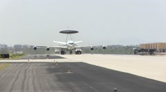 NATO E-3A Arrives at Davis-Monthan AFB - stock footage