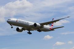 American Airlines Boeing 777 - stock photo