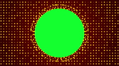 Red background and circle green screen, loop Stock Footage