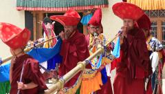 Stock Video Footage of Ritual Cham dance mask in the monastery of Lamayuru, Ladakh, India