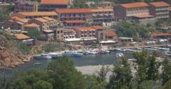4K, View on Porto, Corsica, Tele CloseUp - stock footage