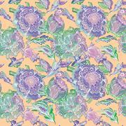 Bright Summer Pastel Pattern - stock illustration
